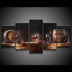 Quadro Decorativo 129x63  Sala  Adega Vinho Wine Pirâmide