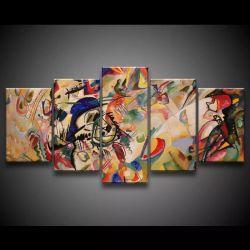 Quadro Decorativo 129x63 Arte Pintura Abstrato Moderno Bege