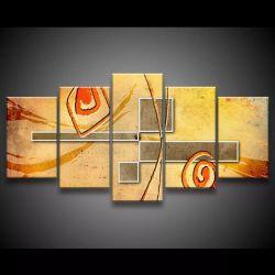 Quadro Decorativo 129x63 Sala Escritório Arte Abstrata 1