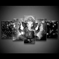 Quadro Decorativo 129x63 Sala Lord Ganesha Elefante P 1
