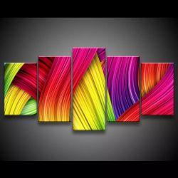 Quadro Decorativo 129x63 Sala Quarto Abstrato Arco Íris 1