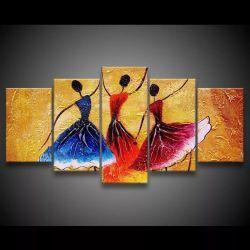 Quadro Decorativo 129x63 Sala Quarto Abstrato Dança Espanha