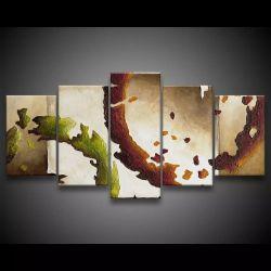 Quadro Decorativo 129x63 Sala Quarto Abstrato Formas 1