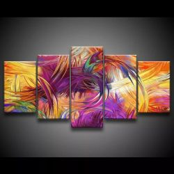 Quadro Decorativo 129x63 Sala Quarto Artístico Colorido Roxo