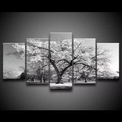 Quadro Decorativo 129x63 Sala Quarto Árvore Branca 1