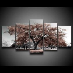 Quadro Decorativo 129x63 Sala Quarto Árvore Marrom 1