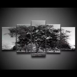 Quadro Decorativo 129x63 Sala Quarto Árvore Preta 1