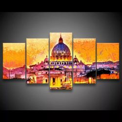 Quadro Decorativo 129x63 Sala Quarto Basilica Vaticano Roma
