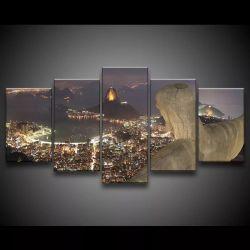 Quadro Decorativo 129x63 Sala Quarto Cristo Rio De Janeiro 1