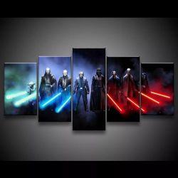 Quadro Decorativo 129x63 Sala Quarto Light And Dark Side 1