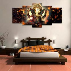 Quadro Decorativo 129x63 Sala Quarto Lord Ganesha Elefante 1