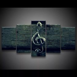 Quadro Decorativo 129x63 Sala Quarto Música Clave De Sol 1