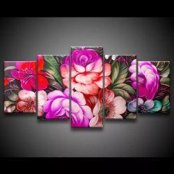 Quadro Decorativo 129x63 Sala Quarto Pintura Flores E Rosas