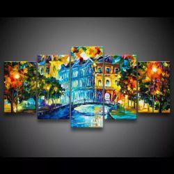 Quadro Decorativo 129x63 Sala Quarto Pintura em Tecido