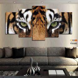 Quadros Decorativos Tigre 63x130cm em Tecido