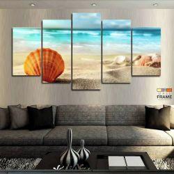 Quadros Decorativos Praia Areia 63x130cm em Tecido