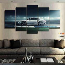 Quadros Decorativos Porsche 63x130cm em Tecido