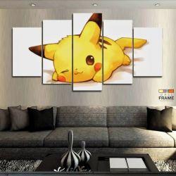 Quadros Decorativos Pikachu Pokémon 63x130cm em Tecido