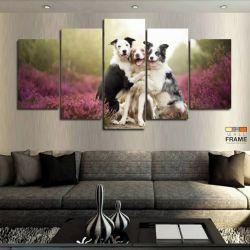 Quadros Decorativos Pet Shop Cachorros 63x130 cm em Tecido