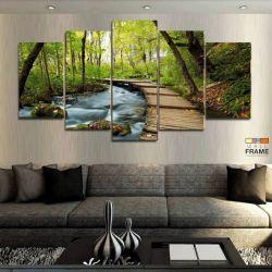 Quadros Decorativos Paisagem Linda Hd 63x130cm em Tecido