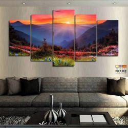 Quadros Decorativos Paisagem 63x130cm em Tecido