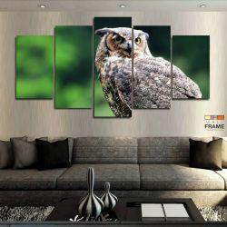 Quadros Decorativos Owl Coruja 63x130cm em Tecido