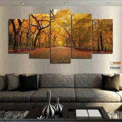 Quadros Decorativos Outono 63x130cm em Tecido