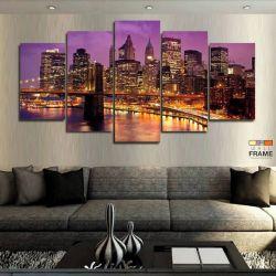 Quadros Decorativos Nova York 63x130cm em Tecido