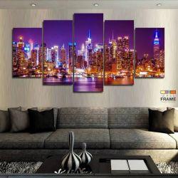 Quadros Decorativos New York 63x130cm em Tecido