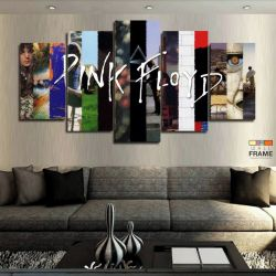 Quadros Decorativos Musica Pink Floyd 63x130cm em Tecido