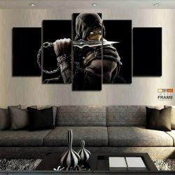 Quadros Decorativos Mortal Kombat 63x130cm em Tecido
