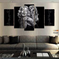 Quadros Decorativos Marilyn Monroe 63x130cm em Tecido