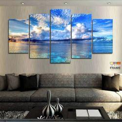 Quadros Decorativos Mar Chuva 63x130cm em Tecido