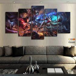 Quadros Decorativos Jogos Online Lol 63x130cm em Tecido