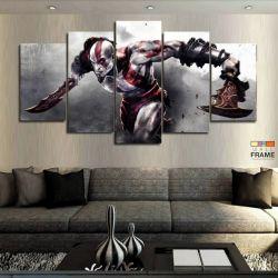 Quadros Decorativos Jogos God Of War 63x130cm em Tecido