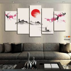 Quadros Decorativos Japão 63x130cm em Tecido