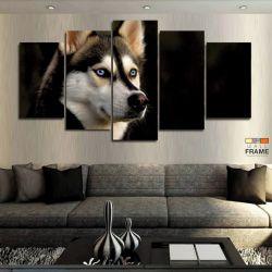 Quadros Decorativos Husky Siberiano 63x130cm em Tecido