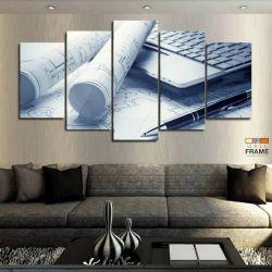 Quadros Decorativos Engenheiro Projeto 63x130 cm em Tecido