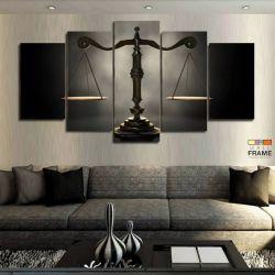 Quadros Decorativos Direito - Balança 63x130cm em Tecido