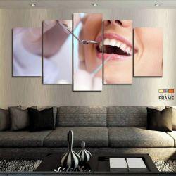 Quadros Decorativos Dentista Odonto 63x130cm em Tecido