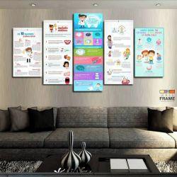 Quadros Decorativos Dentista Info 63x130cm em Tecido
