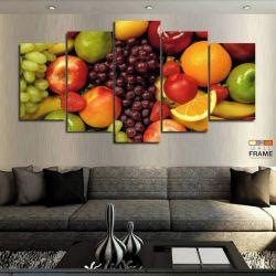 Quadros Decorativos Cozinha Frutas 63x130cm em Tecido