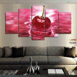 Quadros Decorativos Cozinha Cereja 63x130cm em Tecido