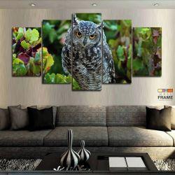 Quadros Decorativos Coruja Linda 63x130cm em Tecido