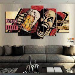 Quadros Decorativos Cerveja Lounge Bar 63x130cm em Tecido