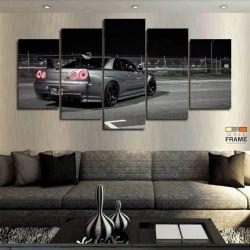 Quadros Decorativos Carros Skyline 63x130cm em Tecido