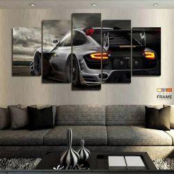 Quadros Decorativos Carros Racing 63x130cm em Tecido