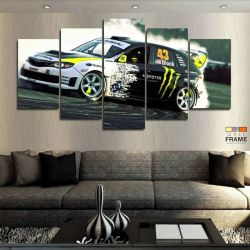 Quadros Decorativos Carros Monster 63x130cm em Tecido