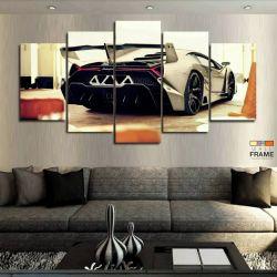 Quadros Decorativos Carros Lamborghini 63x130cm em Tecido