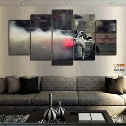 Quadros Decorativos Carros Drift 63x130cm em Tecido